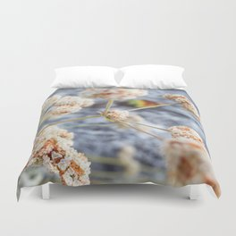 Pink and Peach Flowers Duvet Cover