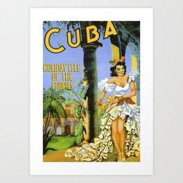 Cuba Vintage Travel Art Print