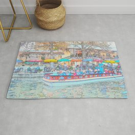 Ride Down The River - San Antonio, Texas Rug