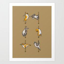 Shiba Inu Pole Dancing Club Art Print