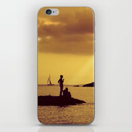 Silhouettes on the Beach iPhone Skin