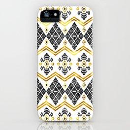 Batik Stone Gold iPhone Case