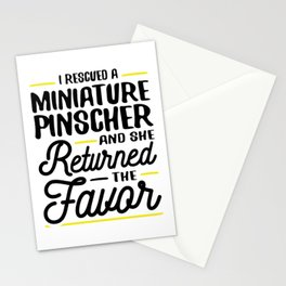 Rescued a Miniature Pinscher Stationery Cards
