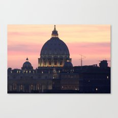 Night At The Vatican Canvas Print