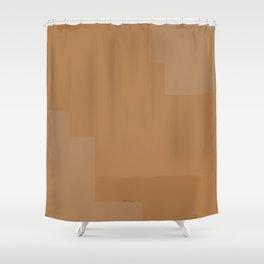 Pastel Orange Design Shower Curtain