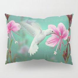 White Hummingbird And Pink Guara Pillow Sham