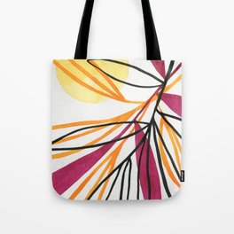 Sun and leaves Tote Bag