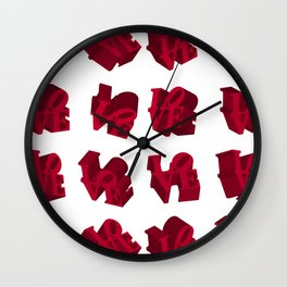 LOVE 3D Icon Classic Wall Clock