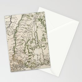 Vintage Map of Finland (1740s) Stationery Cards