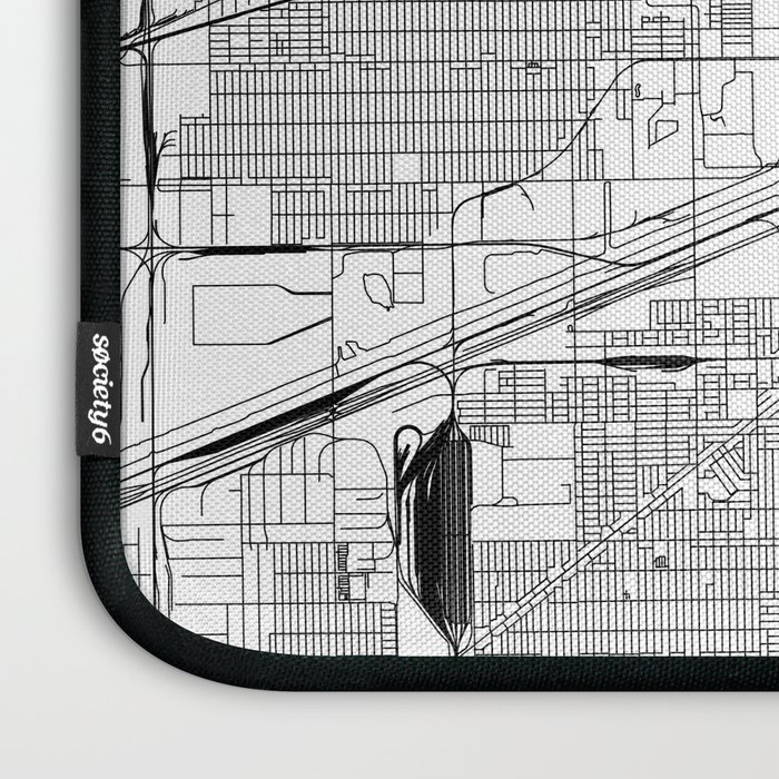Chicago White Map Laptop Sleeve