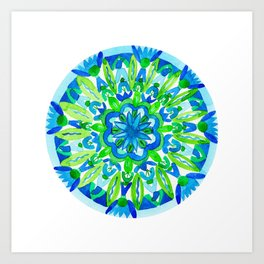 Flourish You Will Mandala Art Print