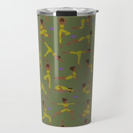Yogi girl Olive routine Travel Mug