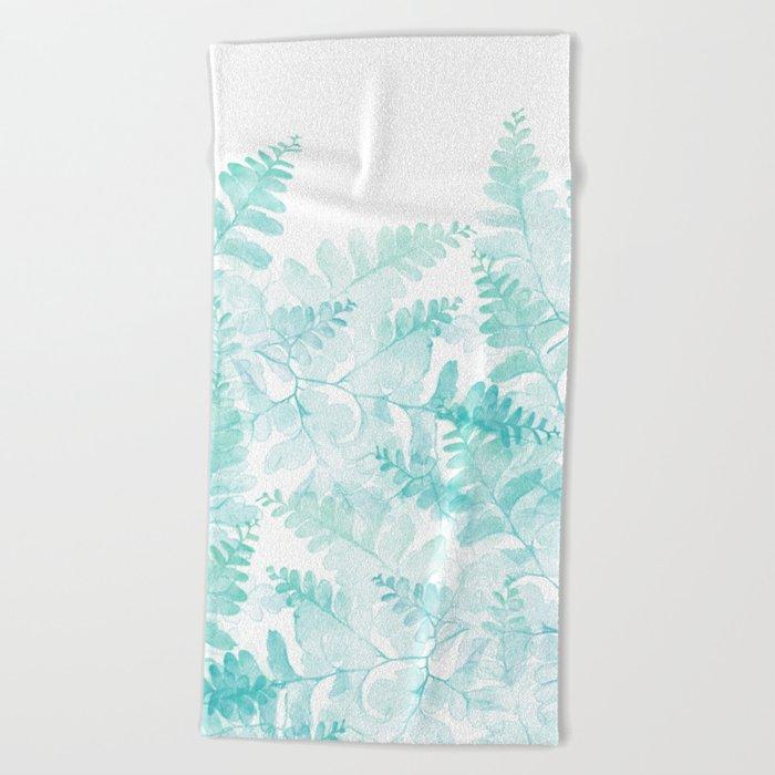 Ferns Rising Beach Towel