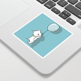 Hungry Westie Puppy Sticker