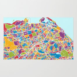 Edinburgh Street Map Rug