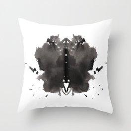 Rorschach test 2 Throw Pillow