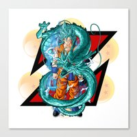dbz Canvas Prints featuring DBZ - A Hero by Mr. Stonebanks