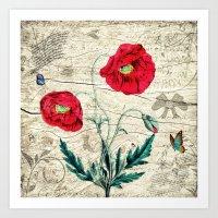 romantic Art Prints featuring Romantic by Susann Mielke
