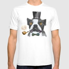 Mr. Bulldog II Mens Fitted Tee MEDIUM White