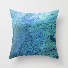 Sea of Swirls Throw Pillow