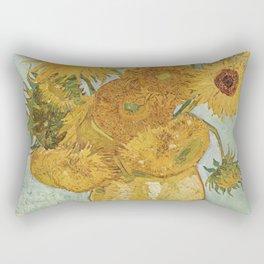 Vase with Twelve Sunflowers, Van Gogh Rectangular Pillow