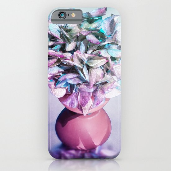 NOSTALGIA - Still life with vase and hydrangea flowers iPhone & iPod Case