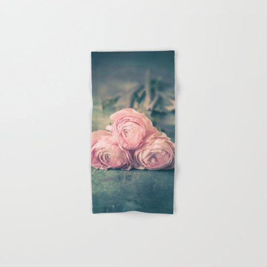 Lovely Ranunculus Hand & Bath Towel