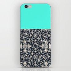 Modern Lace & Aqua iPhone & iPod Skin
