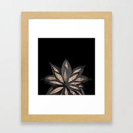 Gray Black Agave with Gold Glitter #1 #shiny #tropical #decor #art #society6 Framed Art Print