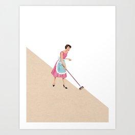 Clean up Art Print