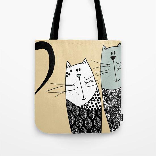Mr & Mrs Cat Tote Bag