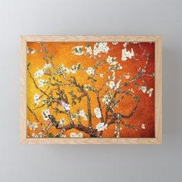 Vincent van Gogh Blossoming Almond Tree (Almond Blossoms) Orange Sky Framed Mini Art Print
