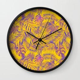 Watercolour Palm Leaf IV Wall Clock