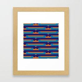 Pop Māori Series: Kikorangi kicks Framed Art Print