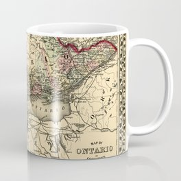 Map Of Ontario 1874 Coffee Mug