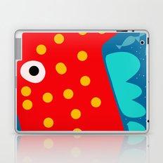 Red Fish illustration for kids Laptop & iPad Skin