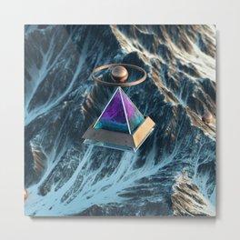 Floating Pyramid Metal Print