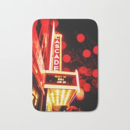 Rainy Night at the Theatre Market Street Redding California Bath Mat
