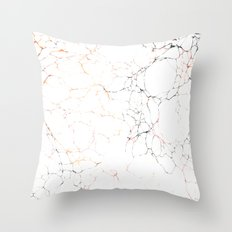 Marbled Cream 2 Throw Pillow
