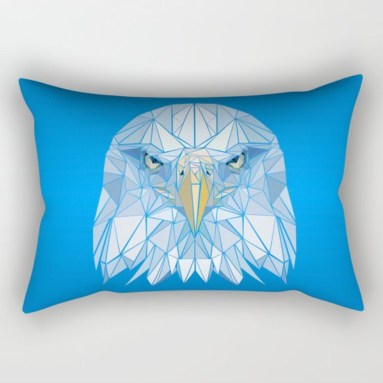 Blue Eagle Rectangular Pillow