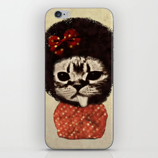 Cat (Pack-a-cat) iPhone & iPod Skin