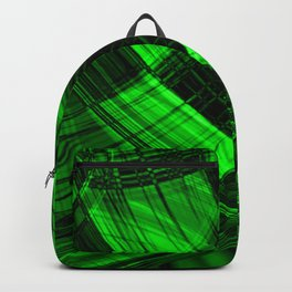 Curved bright herbal lines at the intersection of diamonds and streaming lines. Backpack