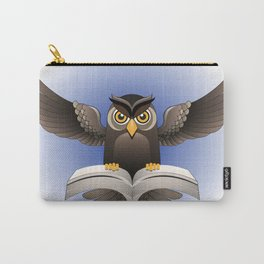 Brown Owl fly with the book Carry-All Pouch