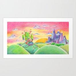 Land of Ooo Art Print