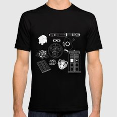 Wibbly wobbly... stuff Black MEDIUM Mens Fitted Tee