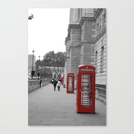 London Phone Booths Canvas Print