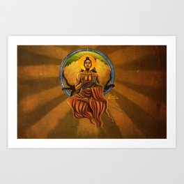 Under the Bodhisattva Tree Art Print