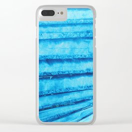 Tormented blue sky 02 Clear iPhone Case