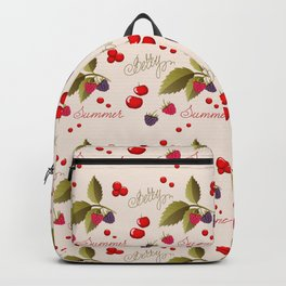 summer berry pattern Backpack
