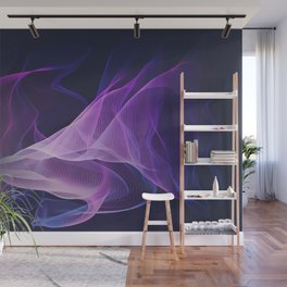 Out of the Blue - Pink, Blue and Ultra Violet Wall Mural